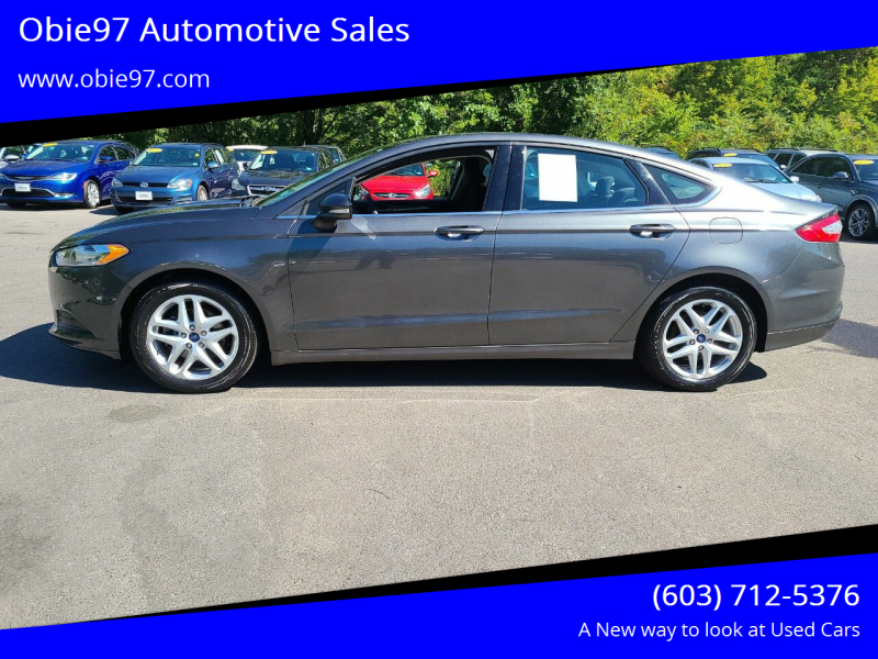 2015 Ford Fusion for sale at Obie97 Automotive Sales in Londonderry NH