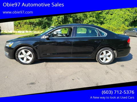 2013 Volkswagen Passat for sale at Obie97 Automotive Sales in Londonderry NH