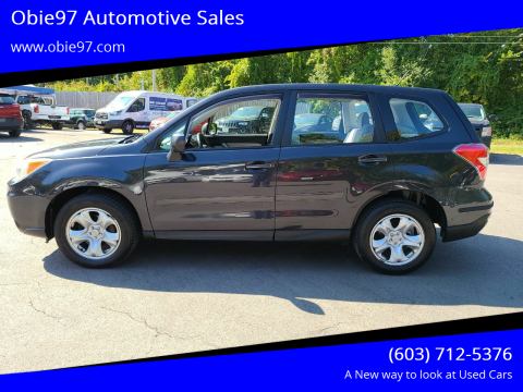 2014 Subaru Forester for sale at Obie97 Automotive Sales in Londonderry NH