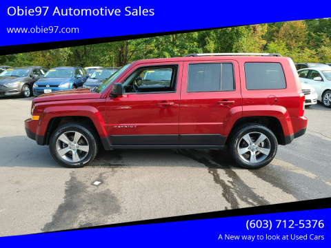 2016 Jeep Patriot for sale at Obie97 Automotive Sales in Londonderry NH