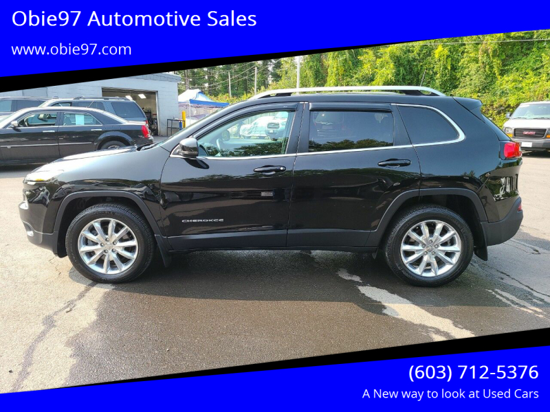 2017 Jeep Cherokee for sale at Obie97 Automotive Sales in Londonderry NH