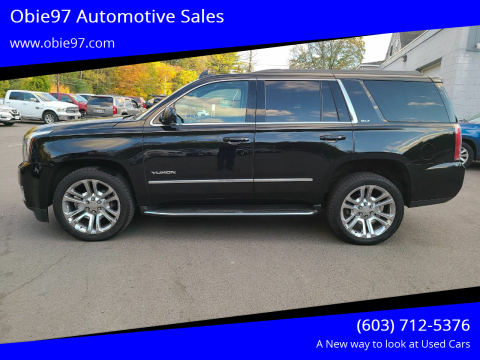 2016 GMC Yukon for sale at Obie97 Automotive Sales in Londonderry NH