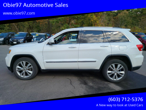 2013 Jeep Grand Cherokee for sale at Obie97 Automotive Sales in Londonderry NH