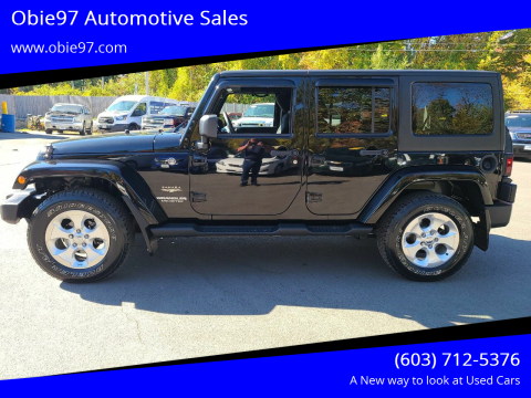 2014 Jeep Wrangler Unlimited for sale at Obie97 Automotive Sales in Londonderry NH