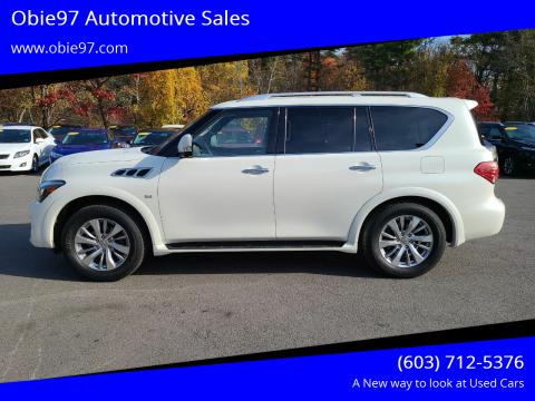 2017 Infiniti QX80 for sale at Obie97 Automotive Sales in Londonderry NH