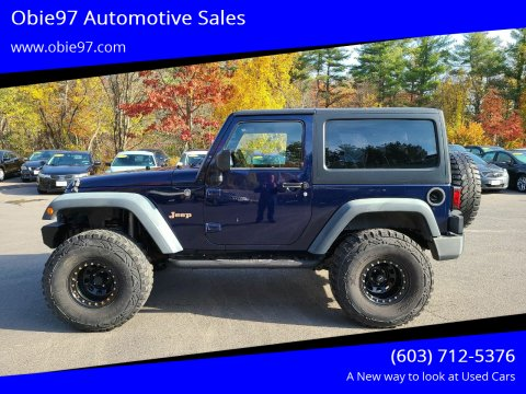 2013 Jeep Wrangler for sale at Obie97 Automotive Sales in Londonderry NH