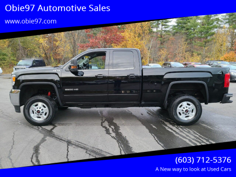 2016 GMC Sierra 2500HD for sale at Obie97 Automotive Sales in Londonderry NH