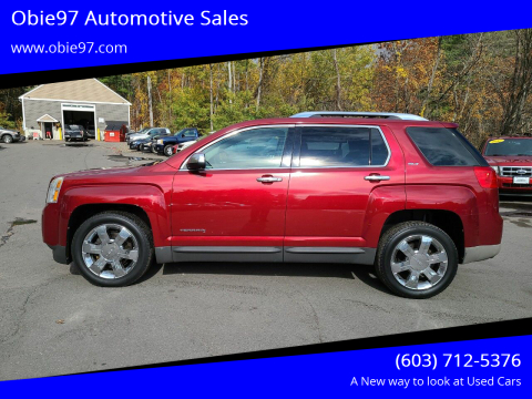 2012 GMC Terrain for sale at Obie97 Automotive Sales in Londonderry NH
