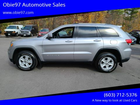2015 Jeep Grand Cherokee for sale at Obie97 Automotive Sales in Londonderry NH