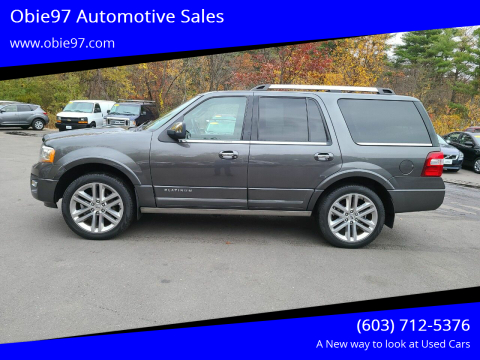 2017 Ford Expedition for sale at Obie97 Automotive Sales in Londonderry NH