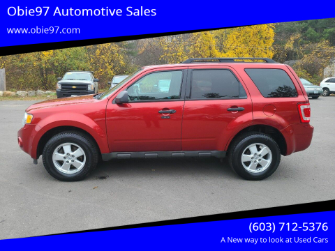2012 Ford Escape for sale at Obie97 Automotive Sales in Londonderry NH