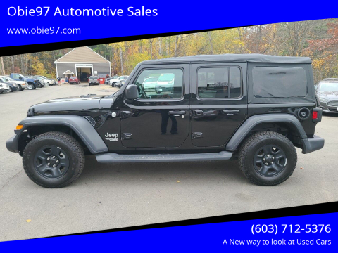 2018 Jeep Wrangler Unlimited for sale at Obie97 Automotive Sales in Londonderry NH