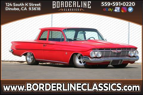 1961 Chevrolet Biscayne for sale at Borderline Classics - Kearney Collection in Dinuba CA