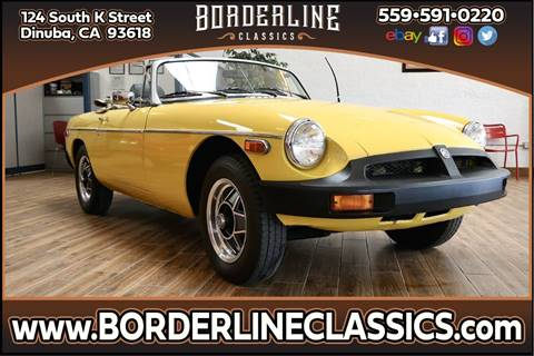 1980 MG MGB for sale at Borderline Classics in Dinuba CA
