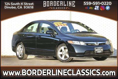 2008 Honda Civic for sale at Borderline Classics in Dinuba CA
