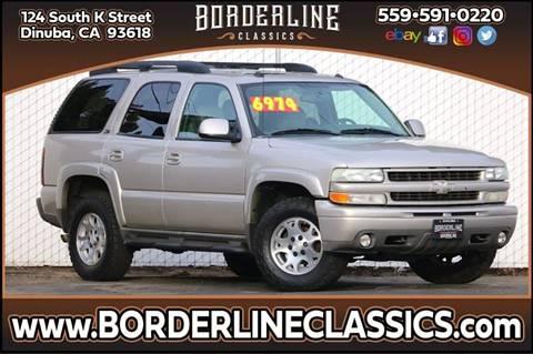 2004 Chevrolet Tahoe Z71 for sale at Borderline Classics in Dinuba CA