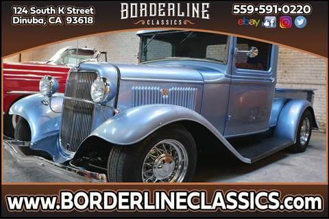 1934 Ford Model A for sale at Borderline Classics in Dinuba CA