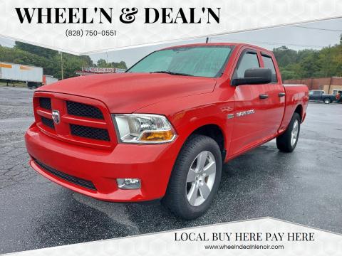 2012 RAM Ram Pickup 1500 for sale at Wheel'n & Deal'n in Lenoir NC