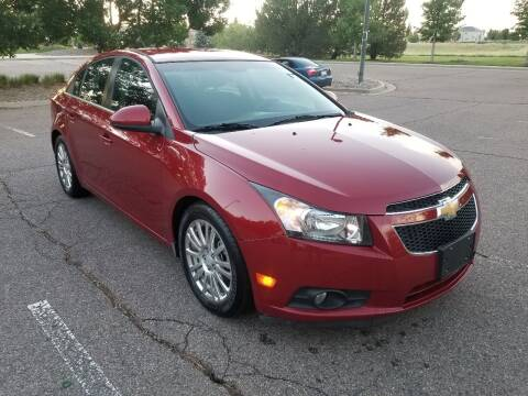 2012 Chevrolet Cruze for sale at Red Rock's Autos in Denver CO