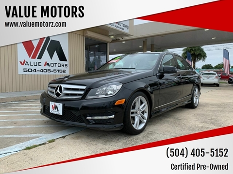 2013 Mercedes-Benz C-Class for sale at VALUE MOTORS in Kenner LA