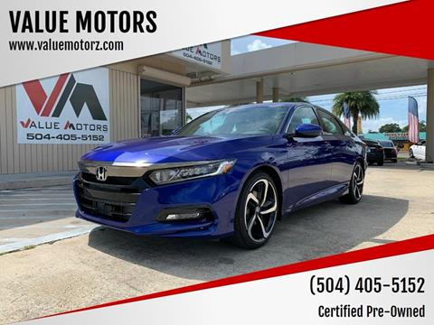 2019 Honda Accord for sale at VALUE MOTORS in Kenner LA