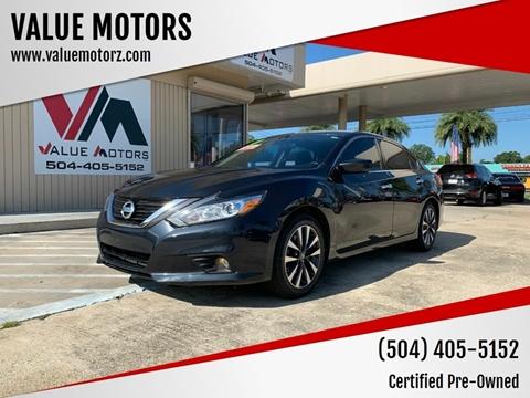 2018 Nissan Altima for sale at VALUE MOTORS in Kenner LA