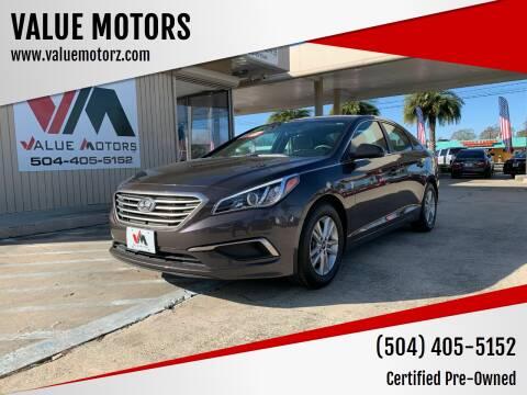 2017 Hyundai Sonata for sale at VALUE MOTORS in Kenner LA