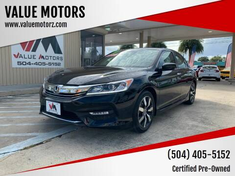 2017 Honda Accord for sale at VALUE MOTORS in Kenner LA