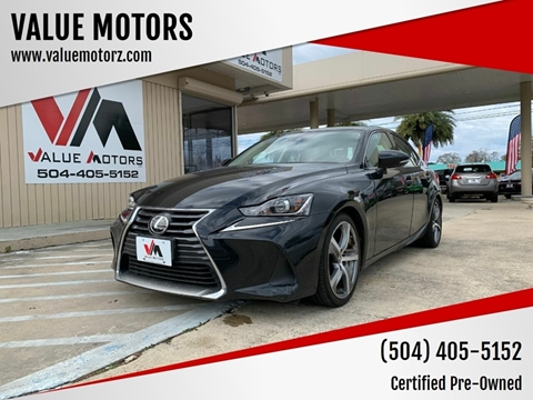 2017 Lexus IS 300 for sale at VALUE MOTORS in Kenner LA