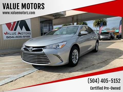 2017 Toyota Camry for sale at VALUE MOTORS in Kenner LA
