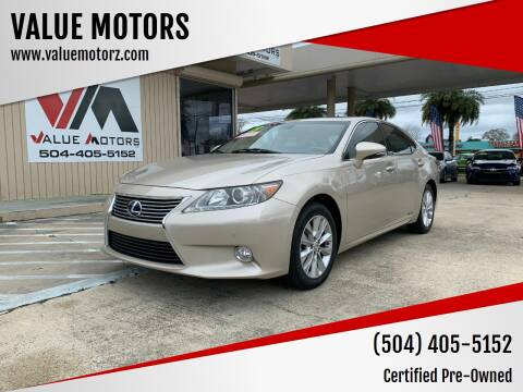 2013 Lexus ES 300h for sale at VALUE MOTORS in Kenner LA