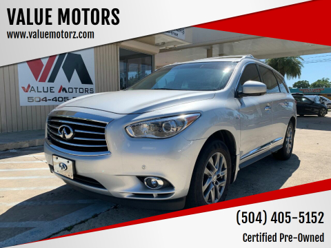 2015 Infiniti QX60 for sale at VALUE MOTORS in Kenner LA