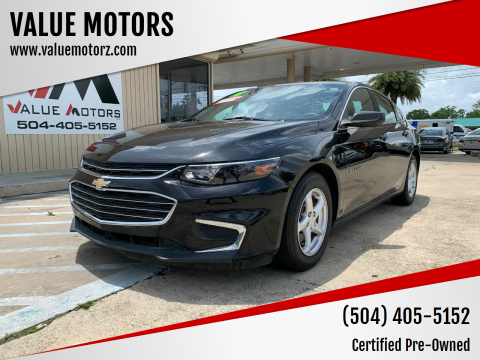 2018 Chevrolet Malibu for sale at VALUE MOTORS in Kenner LA
