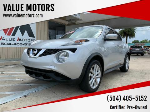 2017 Nissan JUKE for sale at VALUE MOTORS in Kenner LA