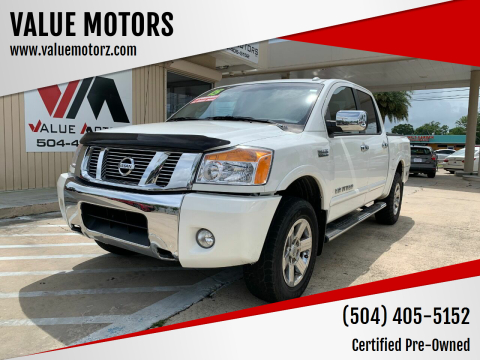 2015 Nissan Titan for sale at VALUE MOTORS in Kenner LA