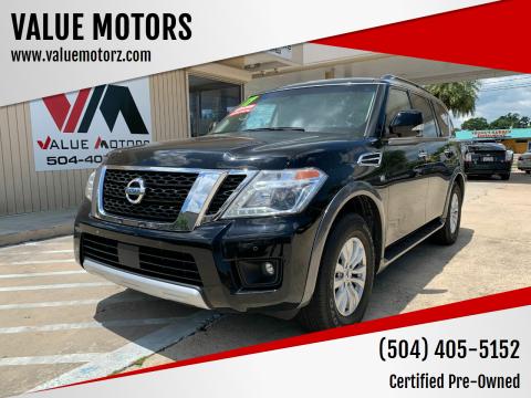 2017 Nissan Armada for sale at VALUE MOTORS in Kenner LA