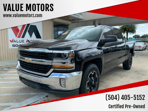 2016 Chevrolet Silverado 1500 for sale at VALUE MOTORS in Kenner LA