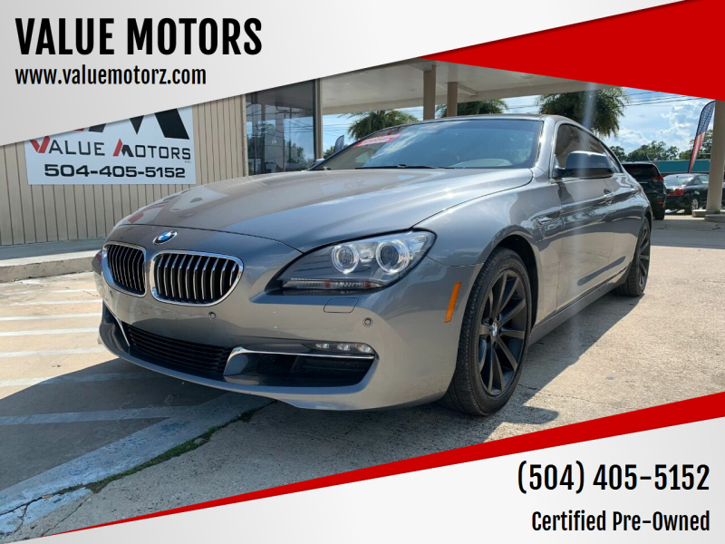 2015 BMW 6 Series for sale at VALUE MOTORS in Kenner LA