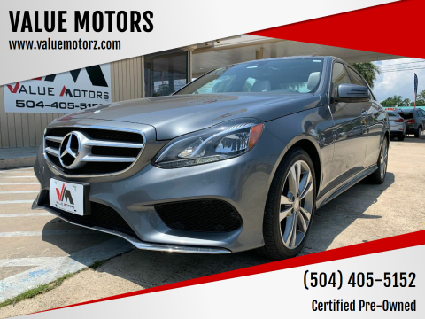 2016 Mercedes-Benz E-Class for sale at VALUE MOTORS in Kenner LA