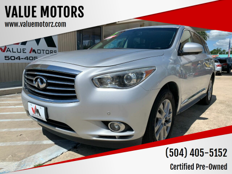2013 Infiniti JX35 for sale at VALUE MOTORS in Kenner LA