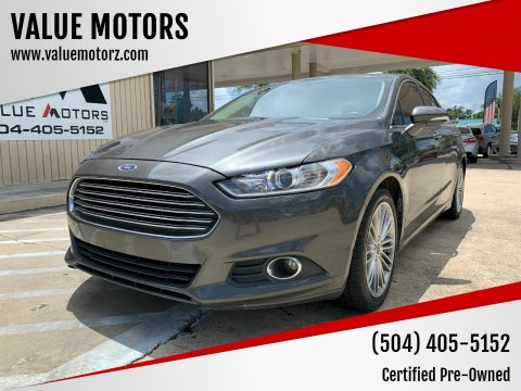 2016 Ford Fusion for sale at VALUE MOTORS in Kenner LA