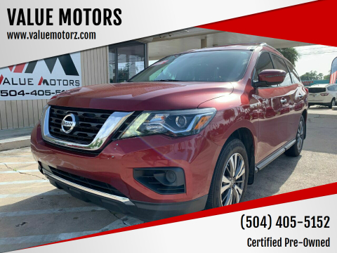 2017 Nissan Pathfinder for sale at VALUE MOTORS in Kenner LA