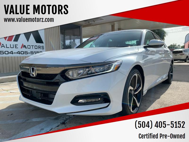 2020 Honda Accord for sale at VALUE MOTORS in Kenner LA