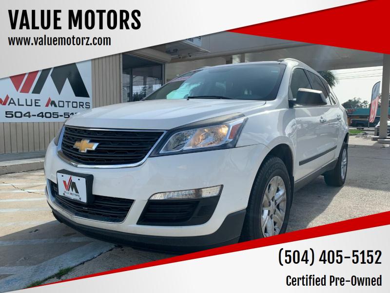 2014 Chevrolet Traverse for sale at VALUE MOTORS in Kenner LA