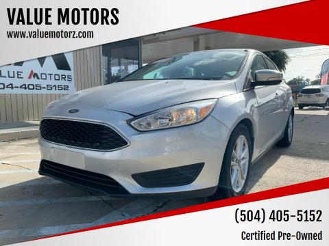2016 Ford Focus for sale at VALUE MOTORS in Kenner LA