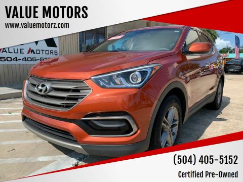 2017 Hyundai Santa Fe Sport for sale at VALUE MOTORS in Kenner LA