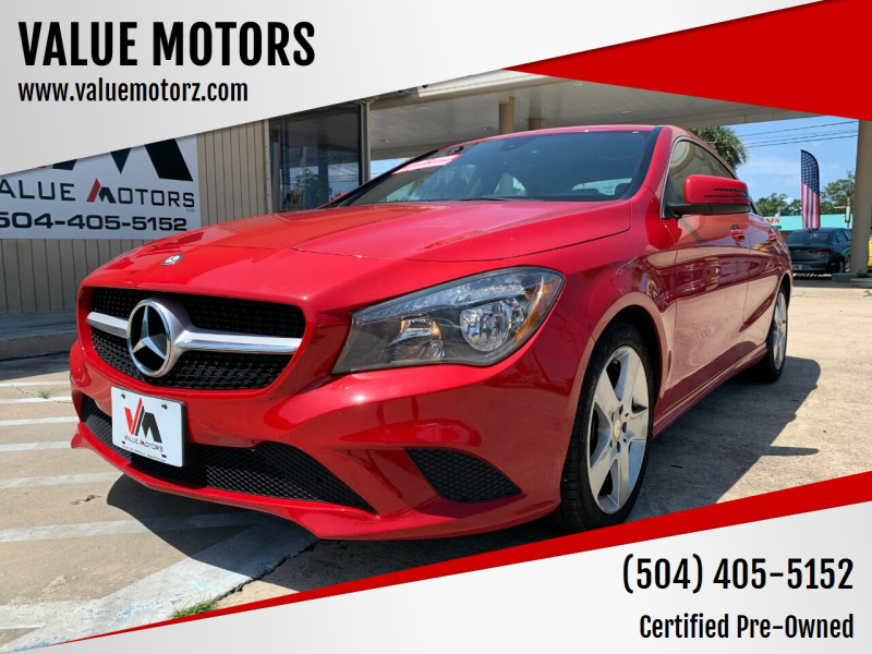2015 Mercedes-Benz CLA for sale at VALUE MOTORS in Kenner LA