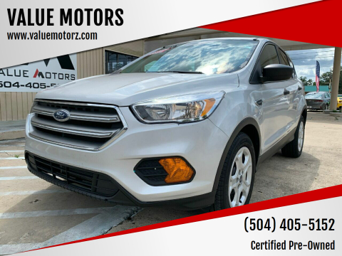 2017 Ford Escape for sale at VALUE MOTORS in Kenner LA