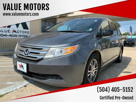 2013 Honda Odyssey for sale at VALUE MOTORS in Kenner LA