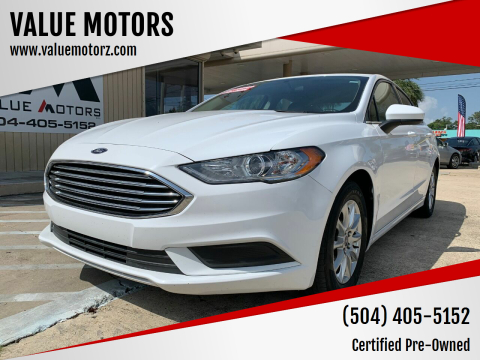2017 Ford Fusion for sale at VALUE MOTORS in Kenner LA